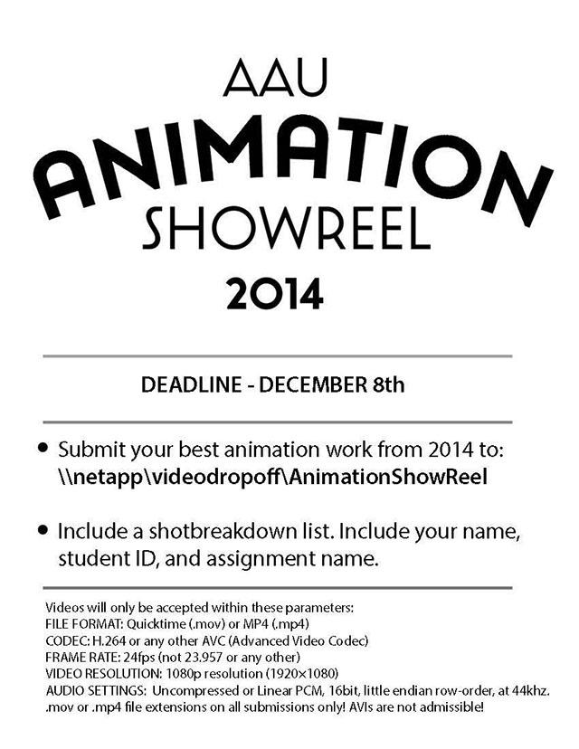 AAU Animation Showreel 2014