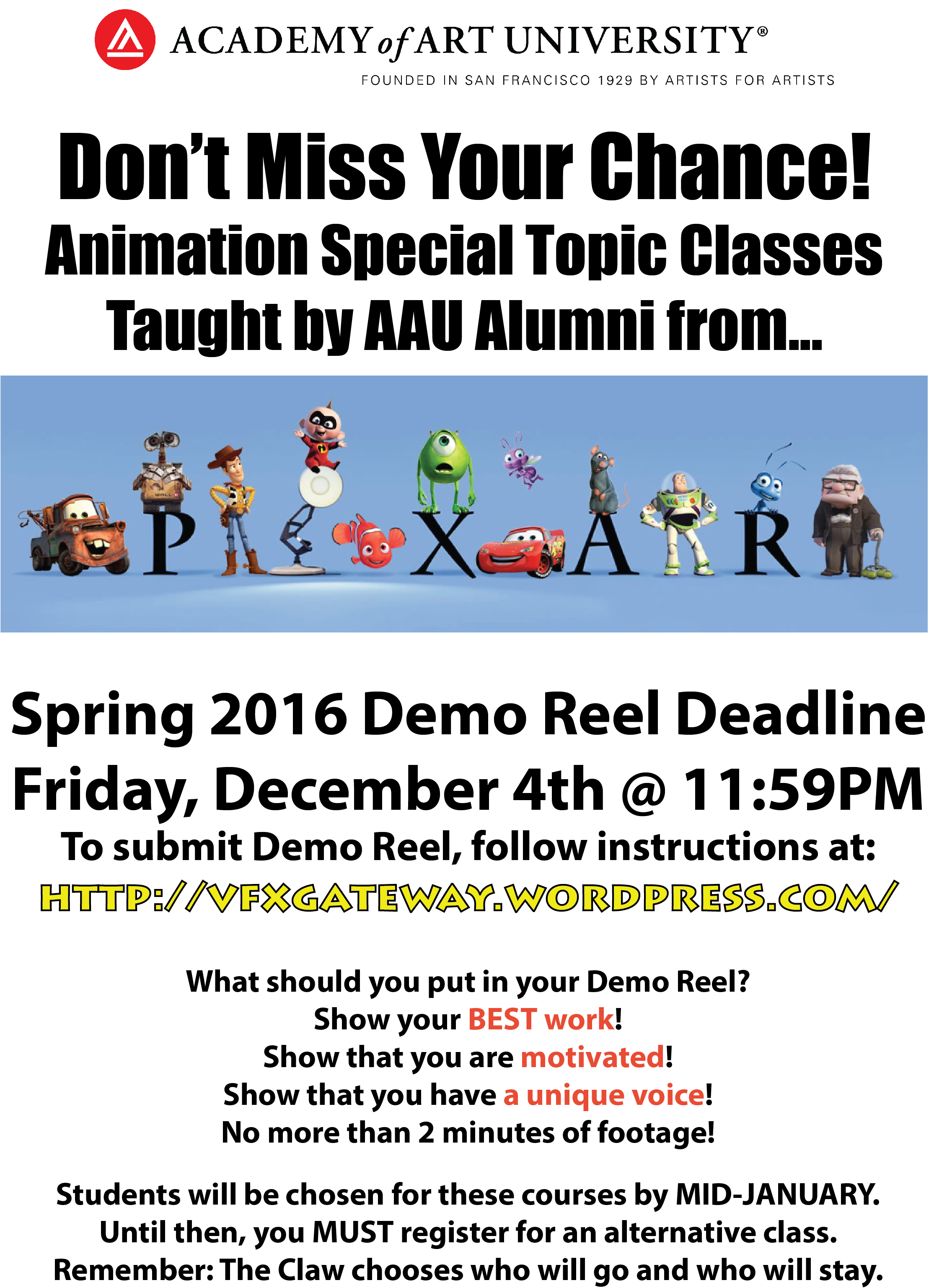 Pixar Poster SP16